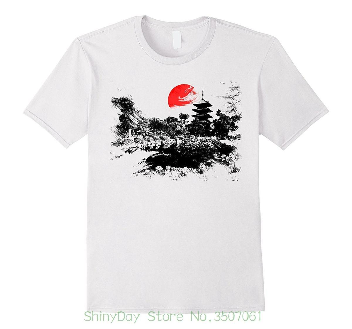 1d586cdea Men'S High Quality Tops Hipster Tees Japan Kyoto Graphical Painterly Japanese  Graphic T Shirt T Shirt Prints T Shirt Designing From Amesion28, ...