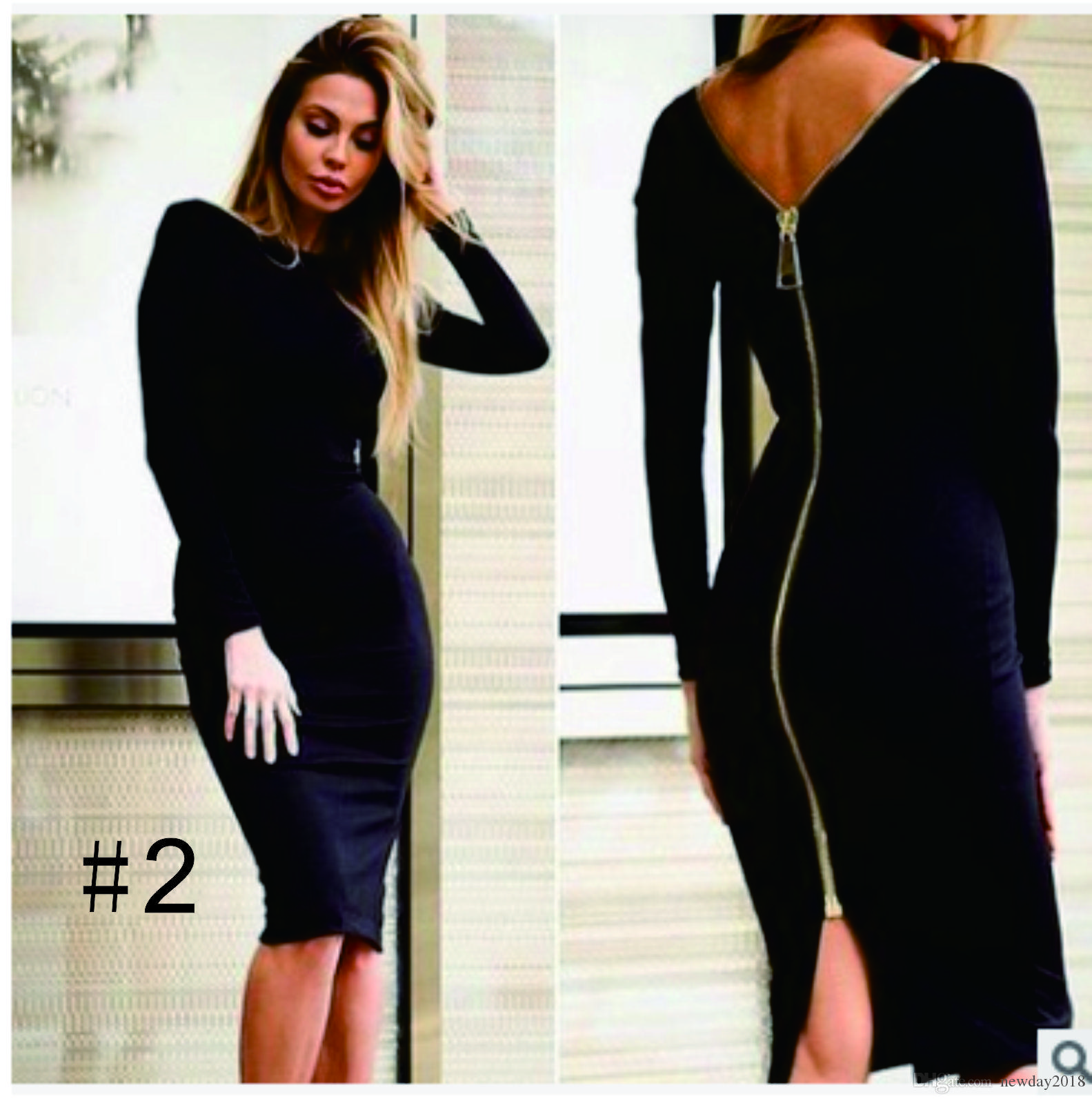 Fashion 1 Sheath Dress Women Clothing Long Sleeve Party Sexy Dresses ... 53cb4ee9d5a7