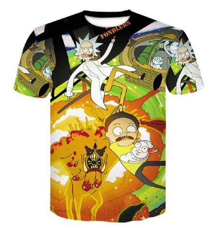 76e99e64 Rick And Morty T Shirt 3d Anime T Shirts Funny T Shirts Chinese Printed  Mens Tee Male Clothing Sexy Tops Hip Hop S XXXXXXXL U736 Sports T Shirts  Men T ...