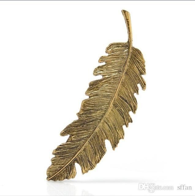 Leaf Feather Hair Clip Hairpin Barrette Pins Retro Hair Jewelry Charm DIY Wear Women Hair Accessories