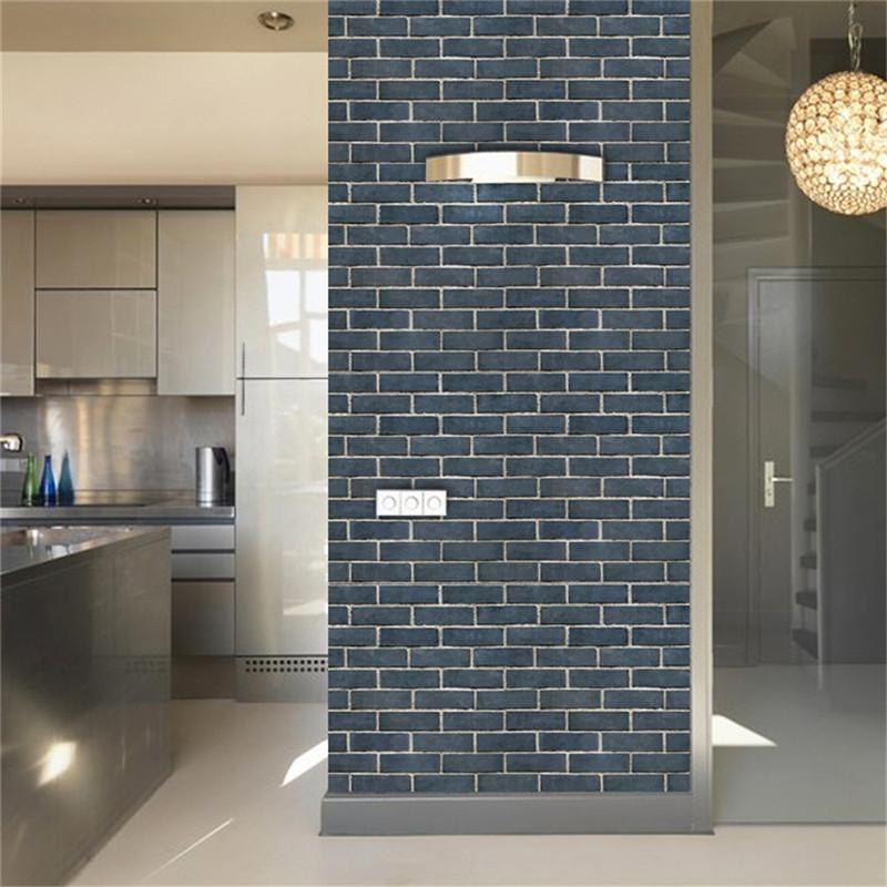 Imitation Brick Pattern 3D Wall Stickers Waterproof Anti-oil Self-adhesive Wallpaper For Living Room Kitchen TV Backdrop Decor