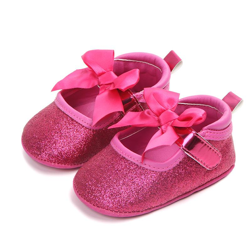 5881eaaf62e9 2019 New Born Baby Girl Shoes Butterfly Princess Shoes Soft Cotton Toddler  Crib Infant Little Kid Sole Anti Slip First Walker From Sophine14