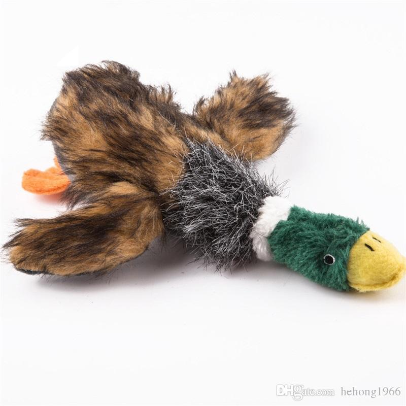 Peluche Kawaii Duck Style Pet Chew Denti Strumenti sani Sounding Bite Dog Dentizione Giocattoli cucciolo Denti uso Mini Supplies 7 8qd Z