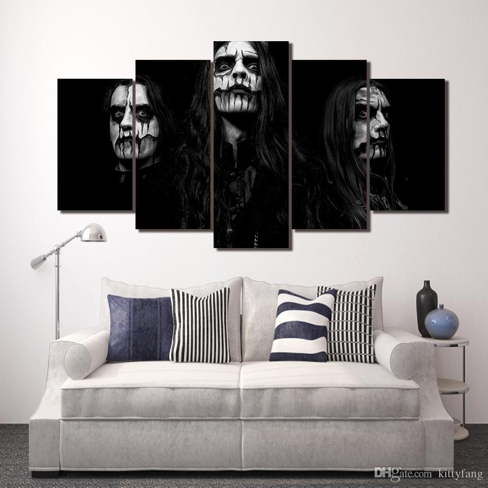 Framed HD Printed Day of the Dead Face Wall Art Canvas Print Poster Canvas Pictures Abstract Oil Painting