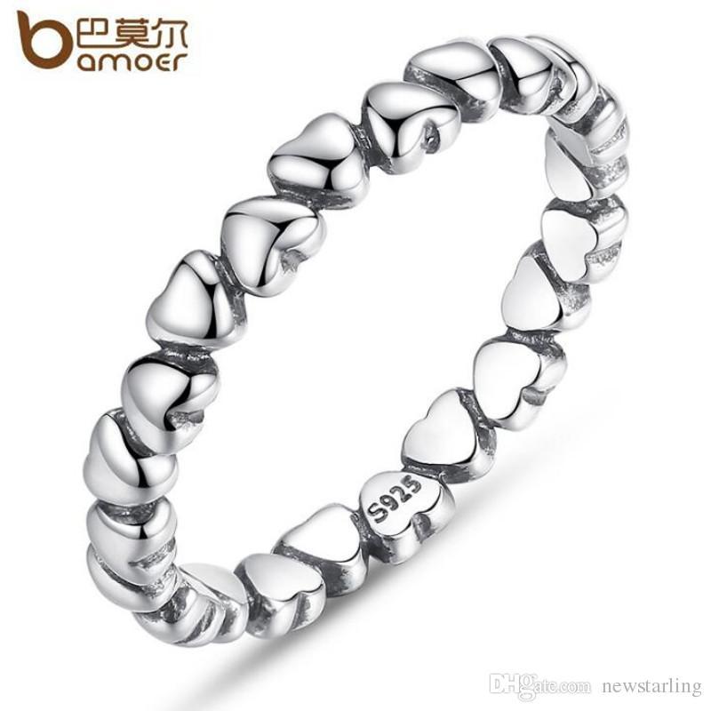 a2f37268b4ab82 Acquista Genuine S925 Sterling Silver Forever Love Heart Finger Ring Fit  Pandora Style Anelli Di Nozze Le Donne Gioielli Di Moda Regalo Di San  Valentino A ...