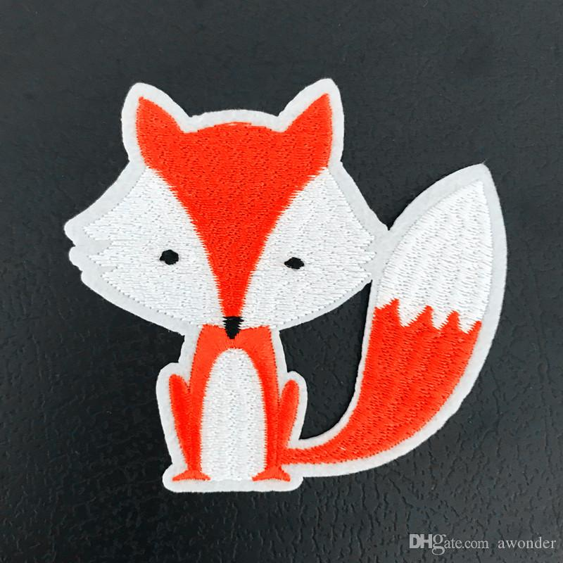 Red Fox Mend Embroidery Patches Cartoon Animal Sew Iron On Applique Patch Badge DIY Apparel Badges For Clothes Jeans Jacket Bag Hat