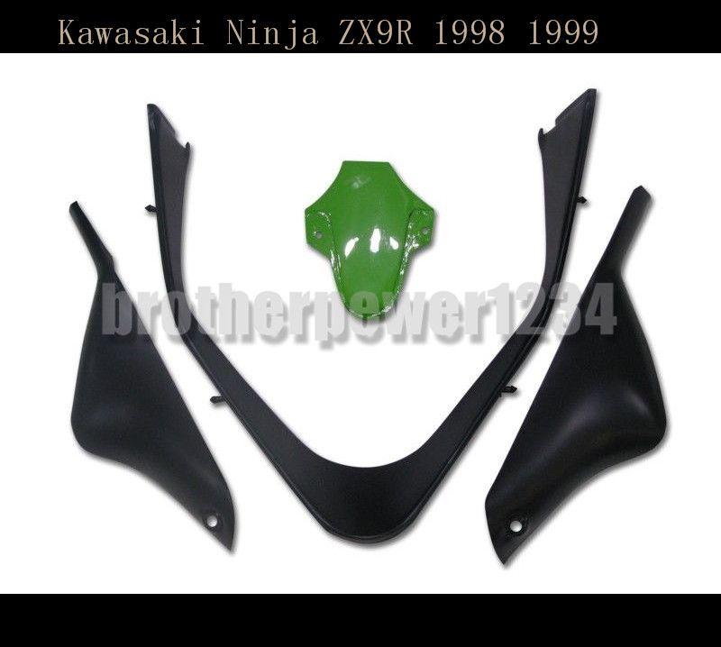 Nuevo kit de carrocería ABS Fairing Bodywork para Kawasaki Ninja ZX9R 1998 1999