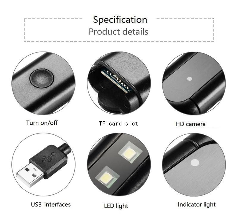 USB LED lamp IP Camera P2P WIFI 1080P mini night light DVR audio Video Recorder remote Monitor wireless Home security surveillance CCTV Cam