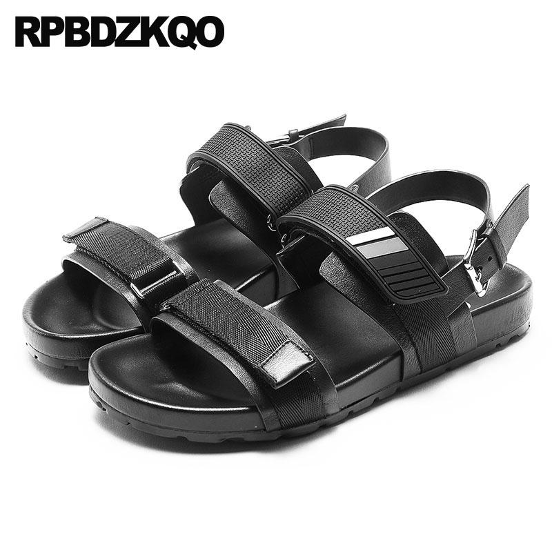e08a15ddac1 Sneakers Designer Shoes Men High Quality Sandals Sport Platform Italian  Summer Open Toe Black Strap Outdoor Genuine Leather 2018 Silver Sandals  Gold Sandals ...