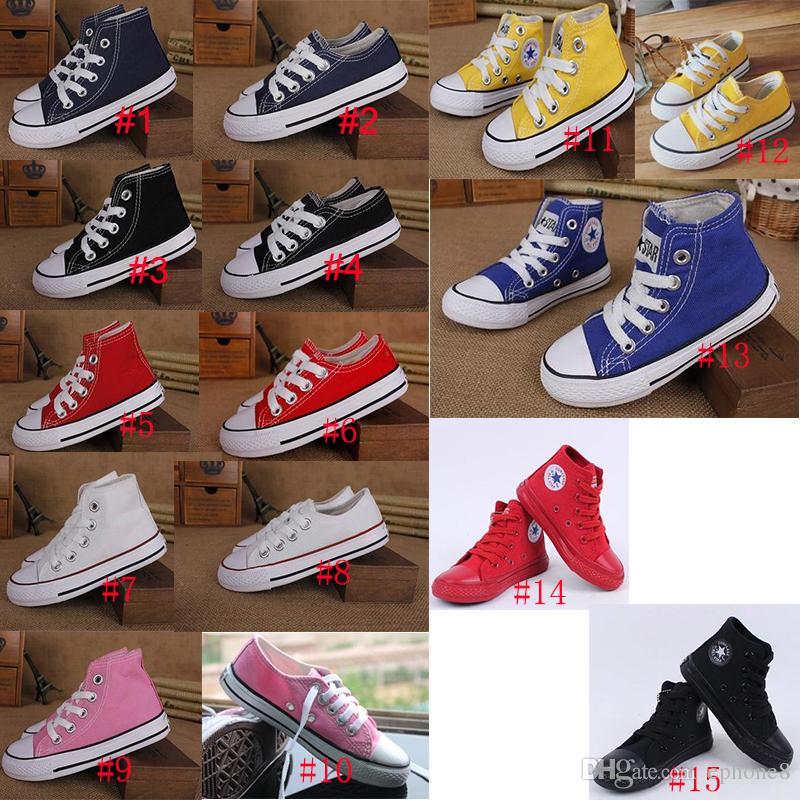 fbfc433d Compre 15 Estilos Estrella Unisex Zapatos De Lona Para Niños Niños High Top  Low Top Niños Niñas Deportes Board Sneaker Clásico Zapatos Casuales A $12.5  Del ...