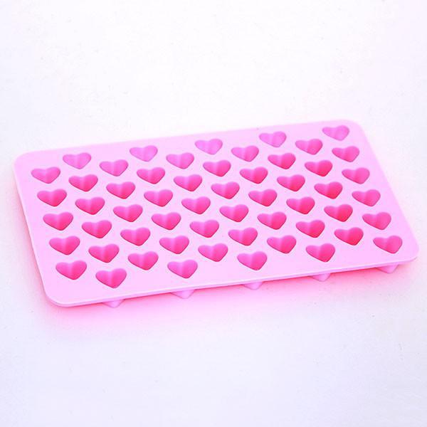 Hornear Herramientas 18.5 * 11 * 1.5 cm Mini Corazón Molde de Pastel de Silicona Fondant de Chocolate Galleta Muffin Molde de Hielo Moldes Flexibles Magdalena