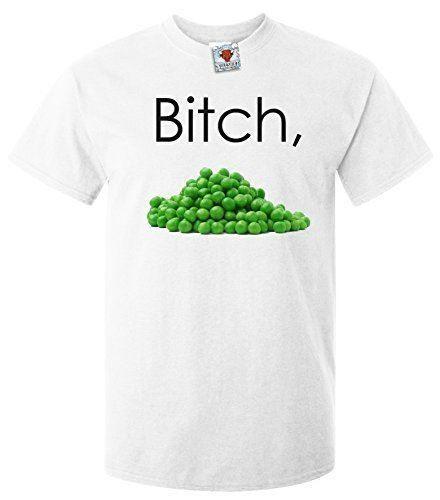 263d095a5ae5d Men s B**ch Peas T-Shirt Funny Vegetable Rude Slogan Hilarious