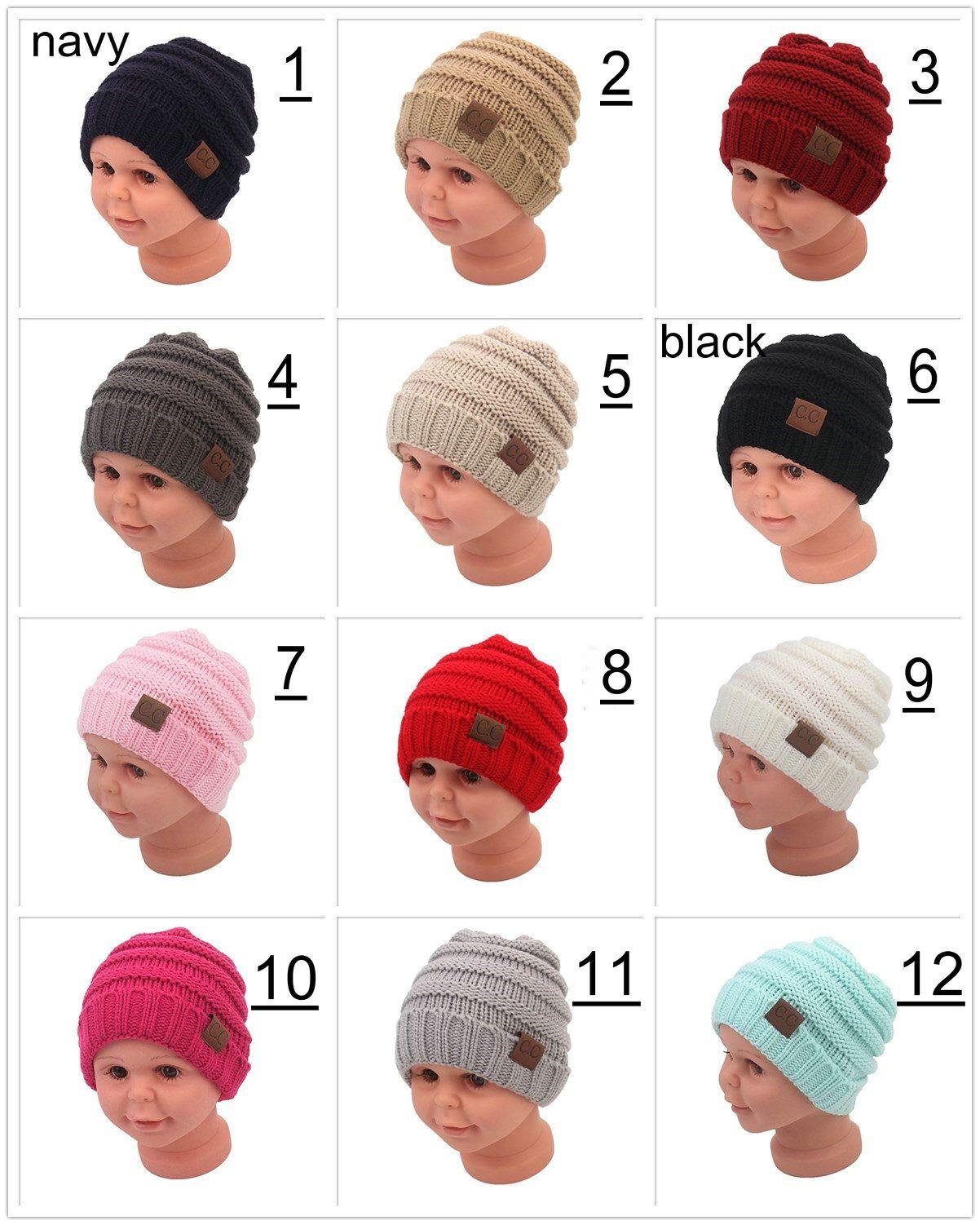aaafc103 2019 Wholesale Fashion Baby Hats CC Trendy Beanie Crochet Beanies Hat  Winter Newborn Beanie Children Wool Knitted Beanie Cap From Sdknitting,  $1.9 | DHgate.