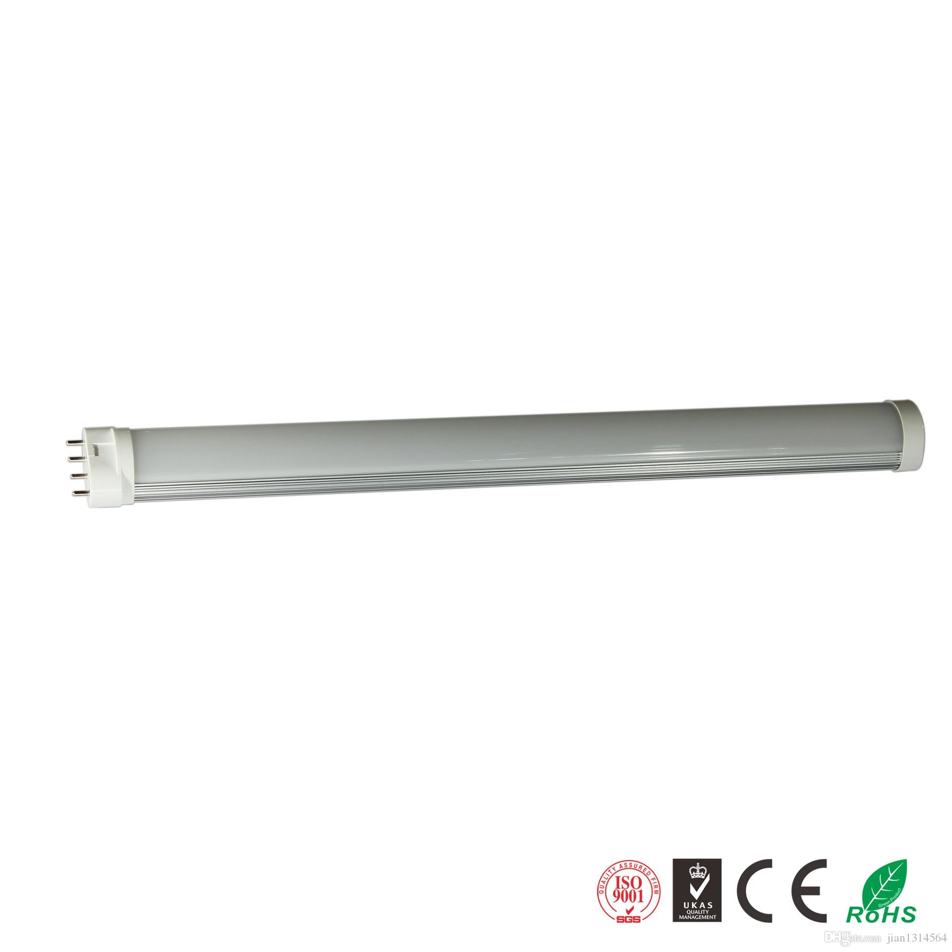 Tube Couverture 410mm 2g11 10pcs Lampe 18w Led Pl Transparente Ac85 Laiteuse Lot 265v 4pin CBtdsrQhox