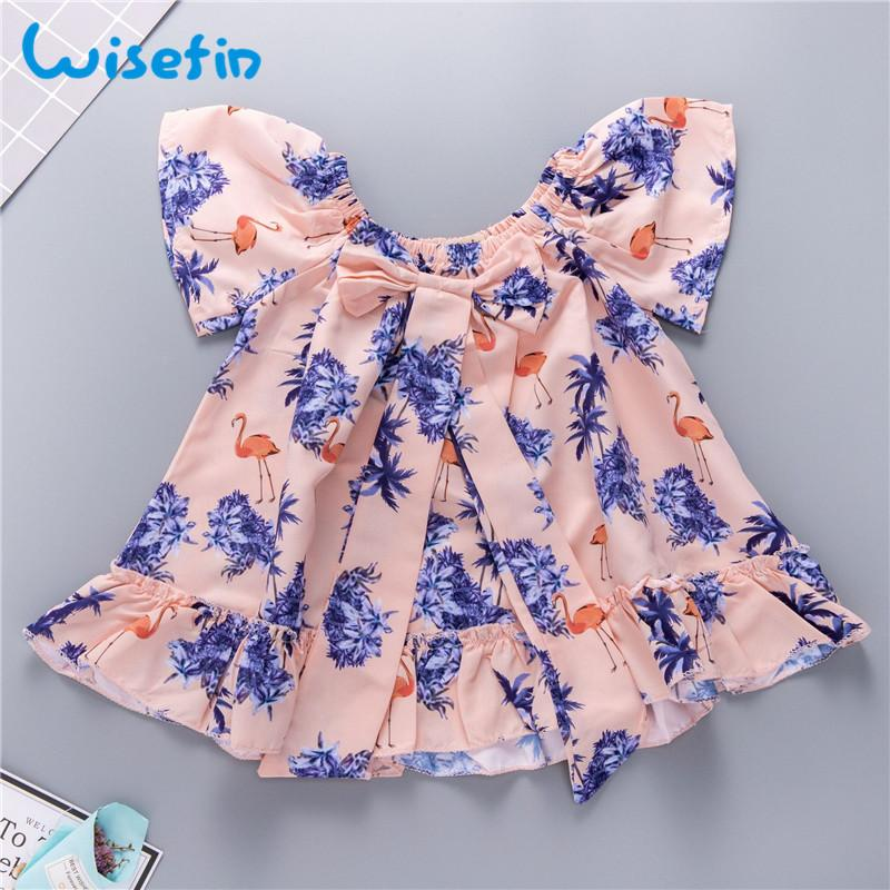 2019 Wisefin Beautiful Baby Girl Dresses Boutique Flamingo Pink