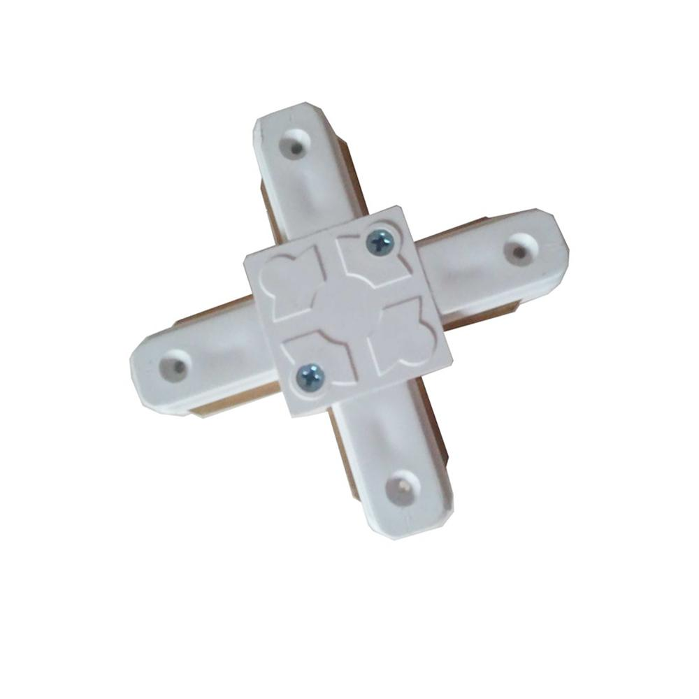 Connectors for Led Track rails lights 2 wire tracks I T L and Cross 4 kind of types White and Black color