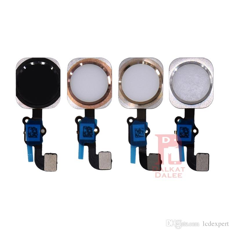 For iPhone 6S Home Button Flex Main Menu Return Key Complete Assembly Cables Spare Replacement Rose Gold White Gold Black