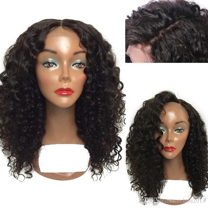 8A Su Dalga Dantel Ön Peruk 150% Yoğunluk Brezilyalı Remy İnsan Saç Siyah Kadınlar için Bebek Saç ile Ayarlanabilir Peruk 14 inç