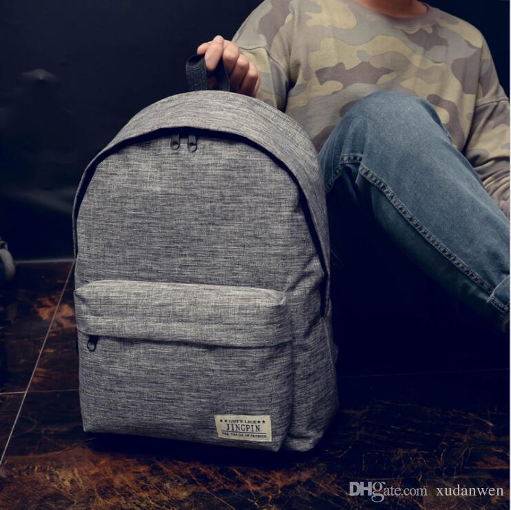 a30cdd18c4 Fashion Unisex Canvas Backpack School Bags Satchel Women Men Plain Casual  Light Outdoor Travel Computer Bag High Capacity Best Backpacks Girls  Backpacks ...