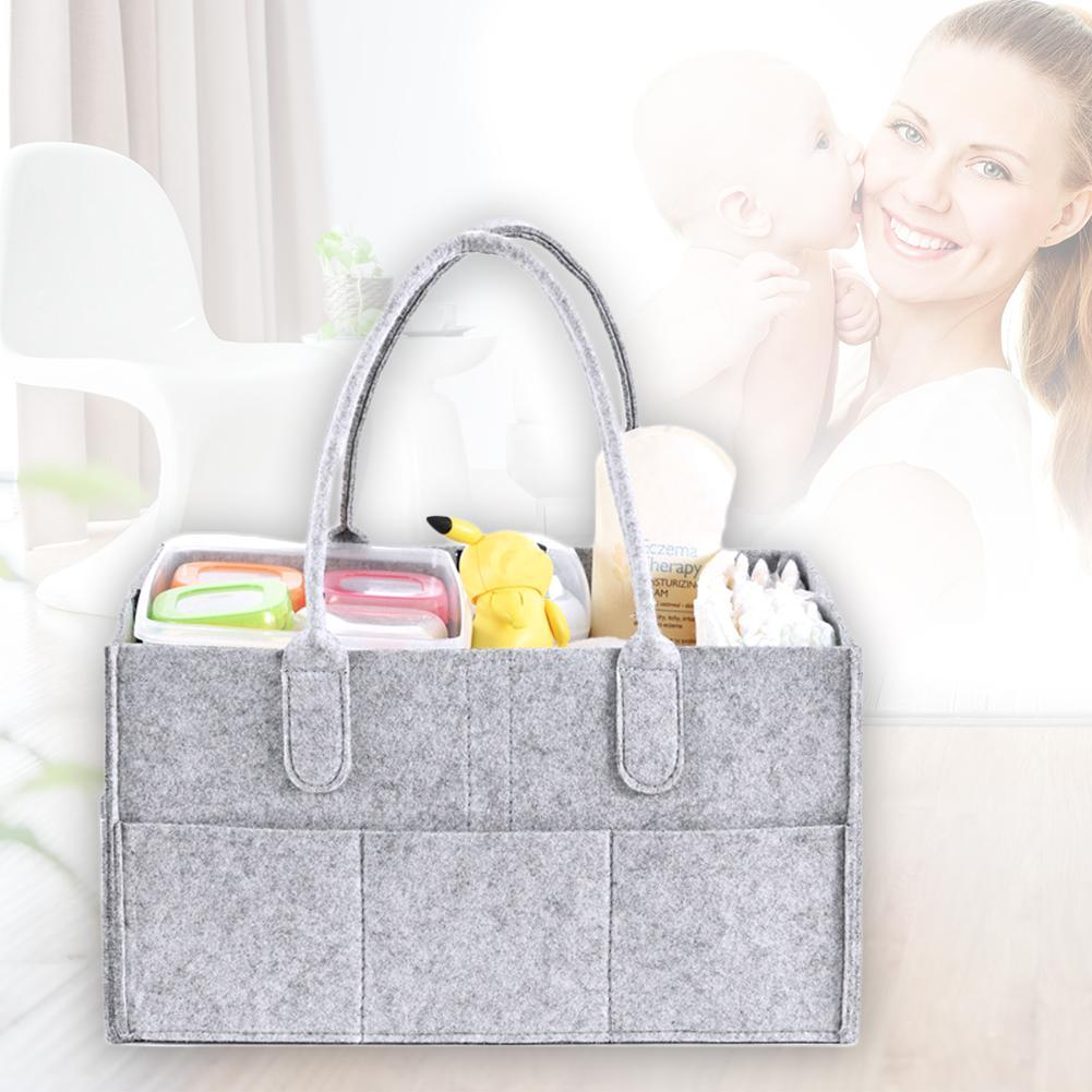aa34ebbfba9e 2019 For Mom And Dad Baby Bag Brand New Children S Diaper Storage Bag  Newborn Diaper Storage Travel Basket Solid Color From Rainbowny
