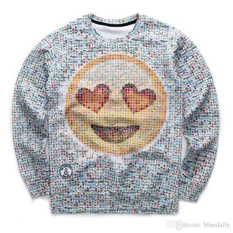 Мода мужчины женские 3d кофты смешные печати страна мяч флаг улыбка лица emoji кофты хип-хоп толстовка мультфильм толстовки