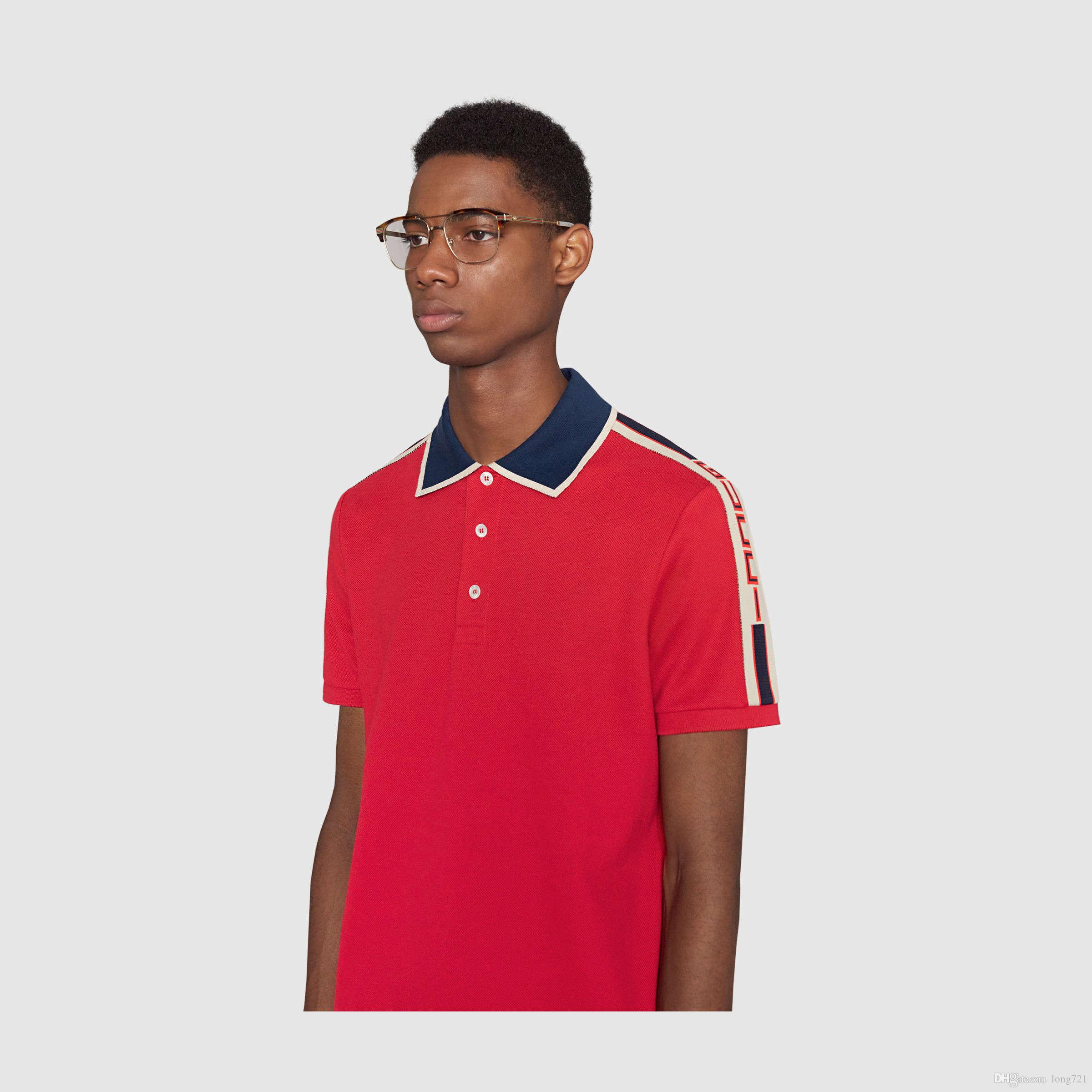 ebb65ceca46 Fashion 2018 Summer New Men s Polo Neck Lapel Short Sleeve ...