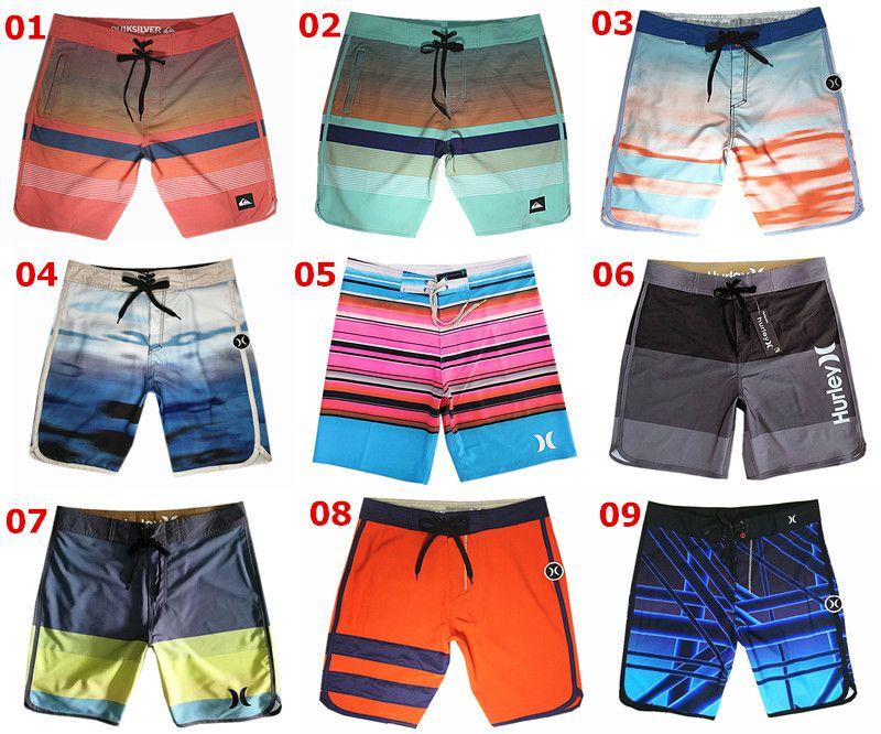 4995086d2b Compre NUEVA Tela De Spandex Pantalones Cortos De Moda Hombres Bermudas Pantalones  Cortos Bañadores Bañadores De Playa Pantalones Cortos De Ocio Pantalones ...