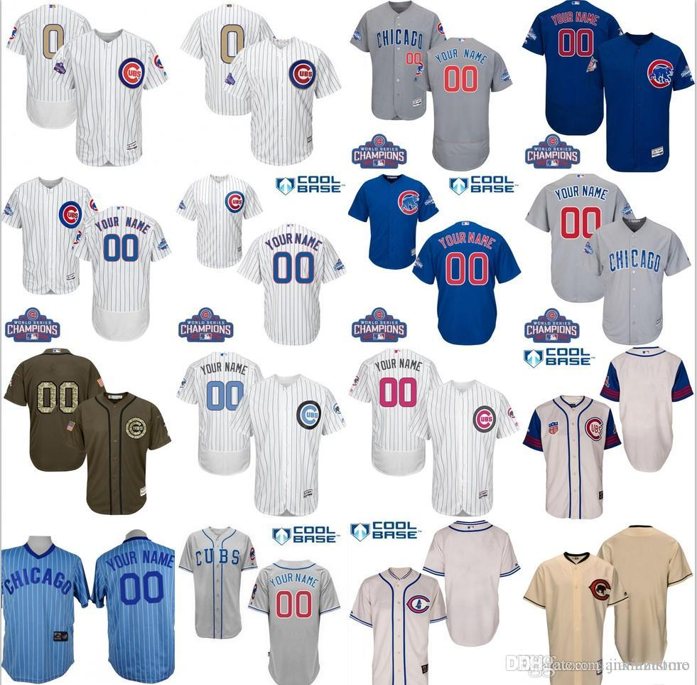 0be27a66a MENs 2017 Gold Program Customized Co Cubs Jerseys Custom Baseball Jerseys  Personalized Stitched Size S-3XL Baseball Jersey Online with  30.41 Piece  on ...