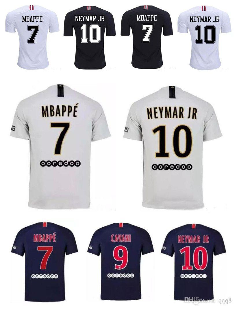 2018 2019 París Saint Germain PSG Soccer Jersey 19 18 7 Mbappe 6 Verratti 9  Cavani 32 DANI ALVES 10 11 DI MARIA 2 T SILVA Camisetas De Fútbol Por Qqq8 0110804d9edb5