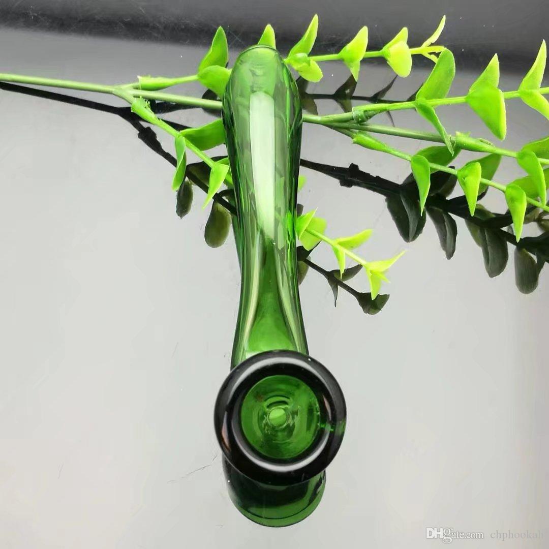 El nuevo tubo de cristal curvado del color, venta al por mayor Bongs las hornillas de aceite de los tubos de agua de los tubos de la hornilla de aceite que fuma el envío libre