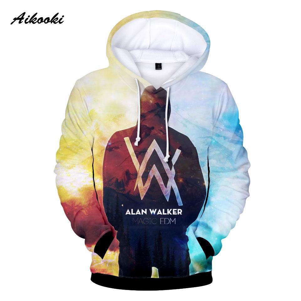 2018 Aikooki Streetwear Alan Walker DJ Hoodies 3D Print Men Hooded  Sweatshirt Men/Women Pullover Hoodie Casual Brand Clothing From Xaviere,  $25.02 | DHgate.