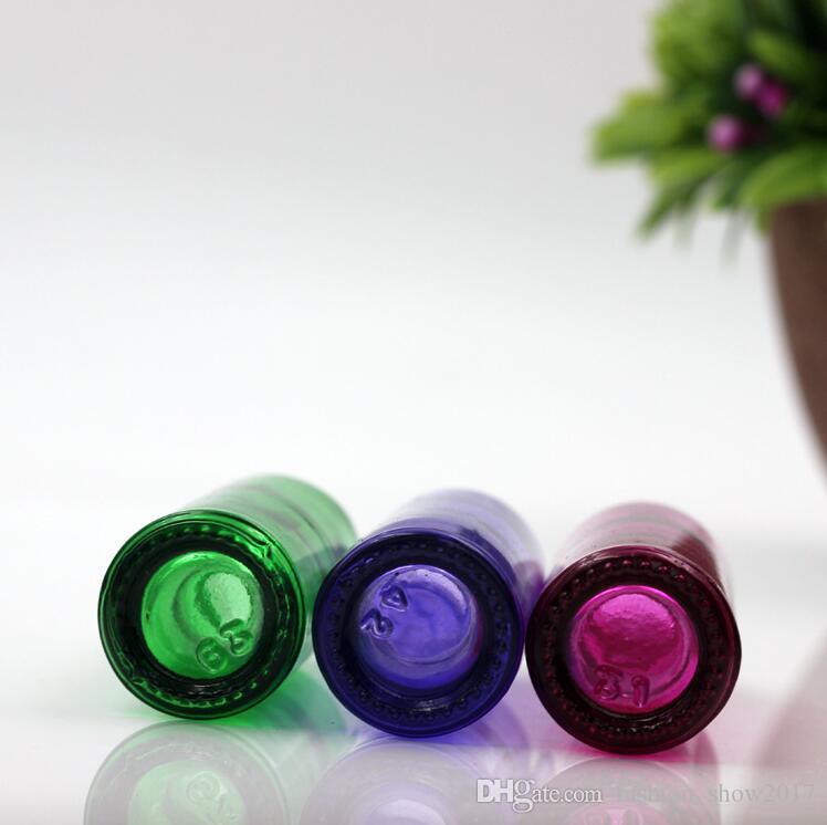10 ملليلتر الروائح الزجاج الضروري النفط الأسطوانة لفة على زجاجات إعادة الملء السفر المحمولة أدوات ماكياج الحاويات التجميل