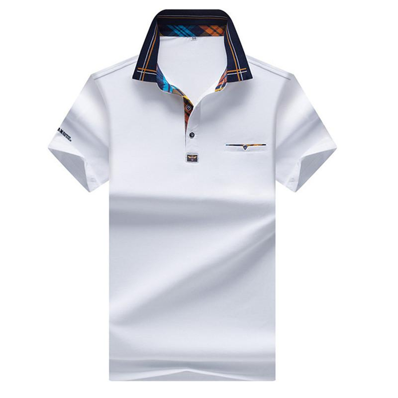 Cheap Price 2019 New Mens Polo Shirt Fashion Hit Color Lattice Collar Casual Pure Color Paul Shirt Brand Polo Shirt Mens Clothing Tops & Tees Polo