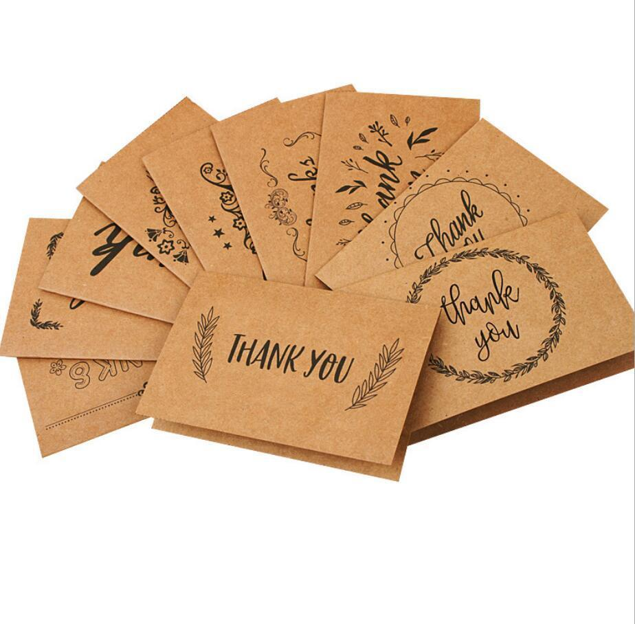 dhl thank you cards with envelope brown kraft paper 15x10cm for
