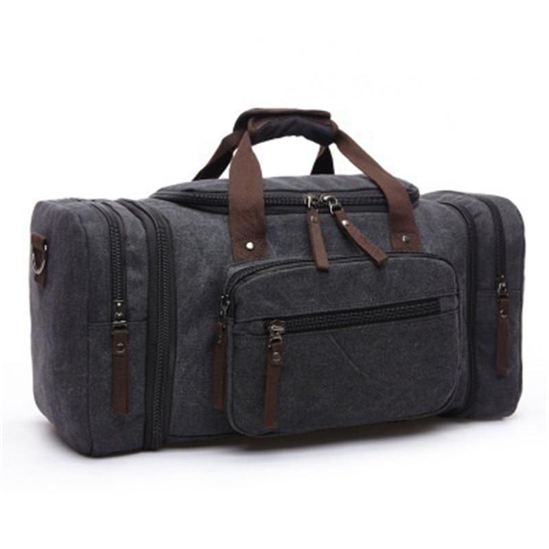 d22b47edc6bc 20.8INCH Large Canvas Travel Tote Luggage Men s Weekend Duffle Bag Travel  Bag  Duffle Bag Waterproof Canvas Travelling Travel Totes Luggage Bag  Travel Bag ...