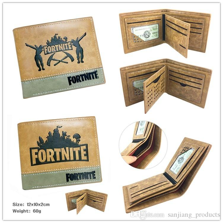 Hot Game Fortnite Battle Royale Cosplay Brown Wallet With Credit