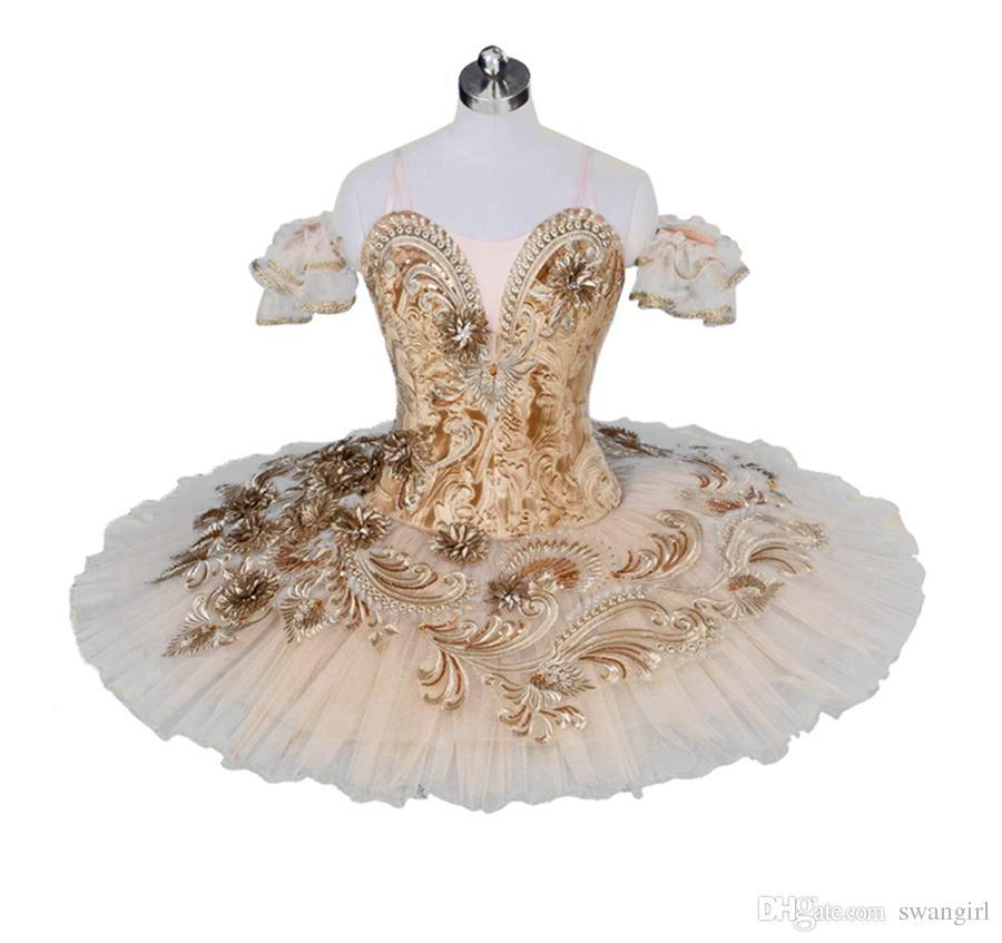 668352d86943 2019 Adult Professional Ballet Tutu Costume Beige Ballerina Pancake Tutu  Skirt Women Performance Classical Ballet Costume Dress BT9030 From  Swangirl, ...