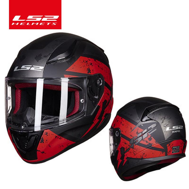 Original Ls2 Ff353 Full Face Motorcycle Helmet High Quality Abs Moto Casque Ls2 Rapid Street Racing Helmets Ece Approved Sportbike Helmets For Sale Sports