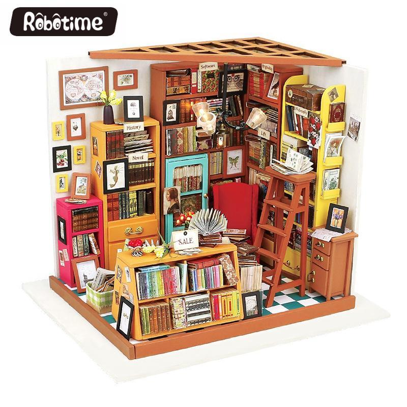 Acheter Robotime Maison De Poupée Bricolage Miniatura Avec Meubles Maisons  De Poupée En Bois Miniature Jouet Pour Enfants Décor À La Maison Artisanat  Pour ... 6c47c1d3cc92