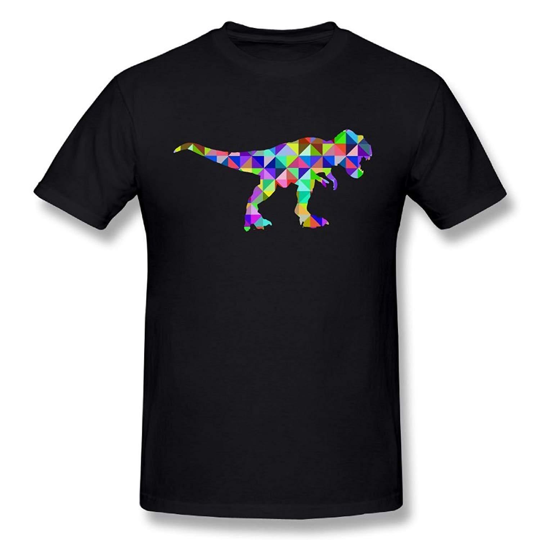 b09ab1c3466c3 Acheter Animal Géométrique Dinosaure Animal Drôle Hommes Rex 100% Coton  Imprime Décontracté À Manches Courtes Tee Imprimer T Shirt De $24.2 Du  Margat ...