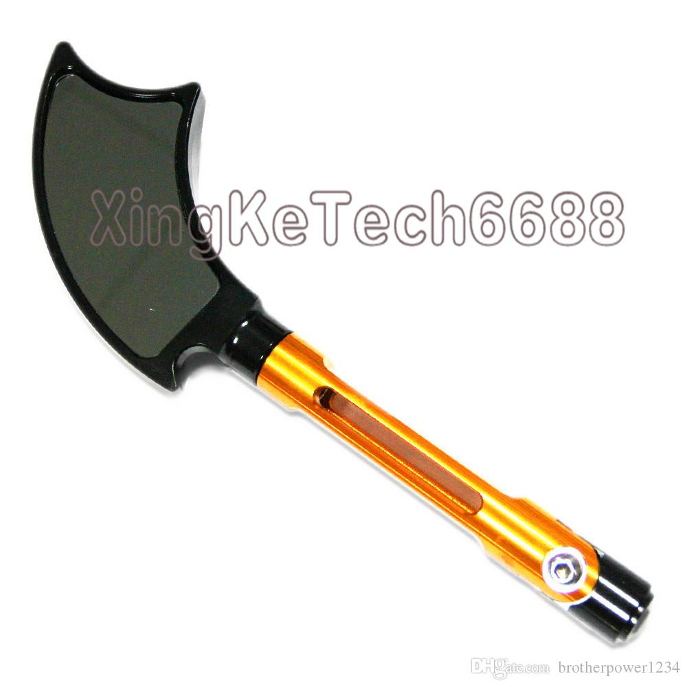 CNC 2X Motorcycle Mirror Universal Rearview Tomahawk Axe Style Mirror