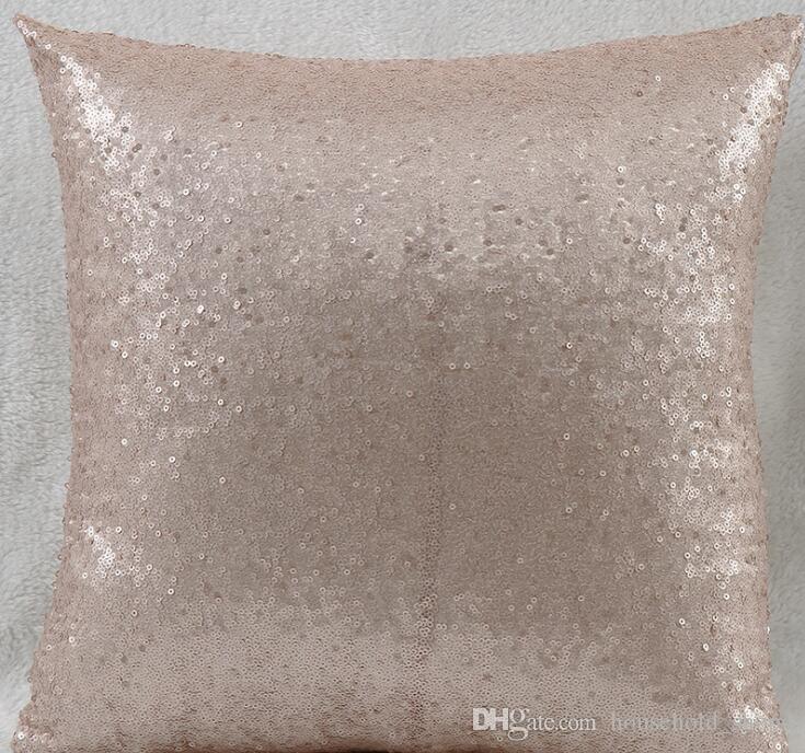 Payetli Yastık Kapakları Sequins Yastık Kılıfları Yastık Yok Değişen Renk 40 * 40 cm Yastık Kanepe için Ofis Araba Ev Dekorasyon 8 Renkler