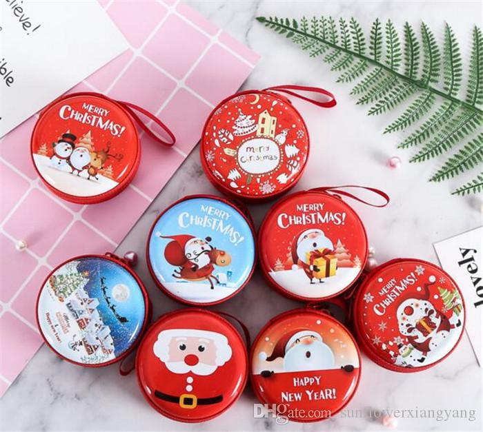 children christmas candy boxes bag gifts holders new year coin earphone snack supplies packaging party decorations christmas accessories christmas ball - Christmas Candy Boxes