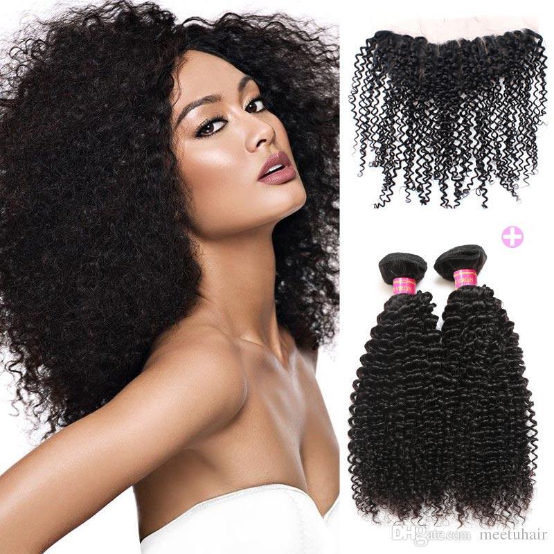 brazilian virgin kinky curly with frontal 8a brazilian afro kinky