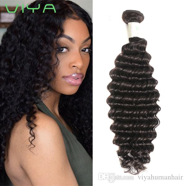 2018 Hot Selling Indian Remy Hair Weave 9A Unprocesssed Human Virgin Hair Bundles 4pcs/lot Deep Wave Hair Free Shedding With Wholesale Price