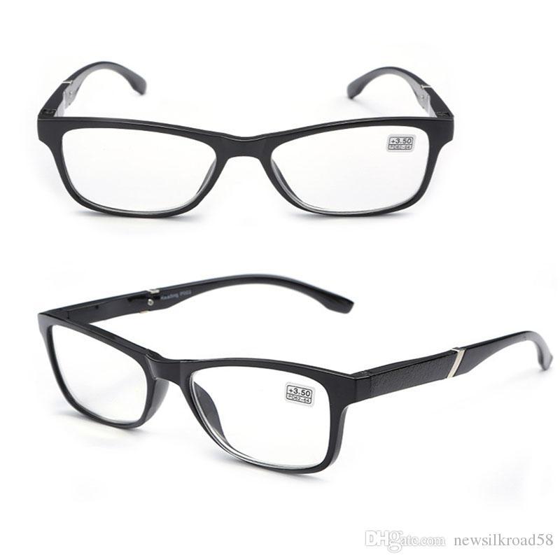 cfcbf5cd70 Fashion Full Frame Hyperopia Reading Glasses Men Women HD Resin Lens Presbyopic  Reading Glasses Eyewear For Old People Frameless Reading Glasses Glass Lens  ...