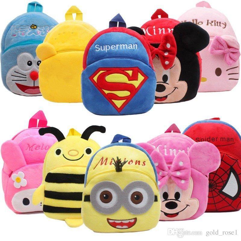 c1e80684a3da New Cute Cartoon Plush Backpack Kids Plush Backpack Toys Mini School Bag  Children Gift Kindergarten Boy Girl Baby Student Bag Online with   5.57 Piece on ...