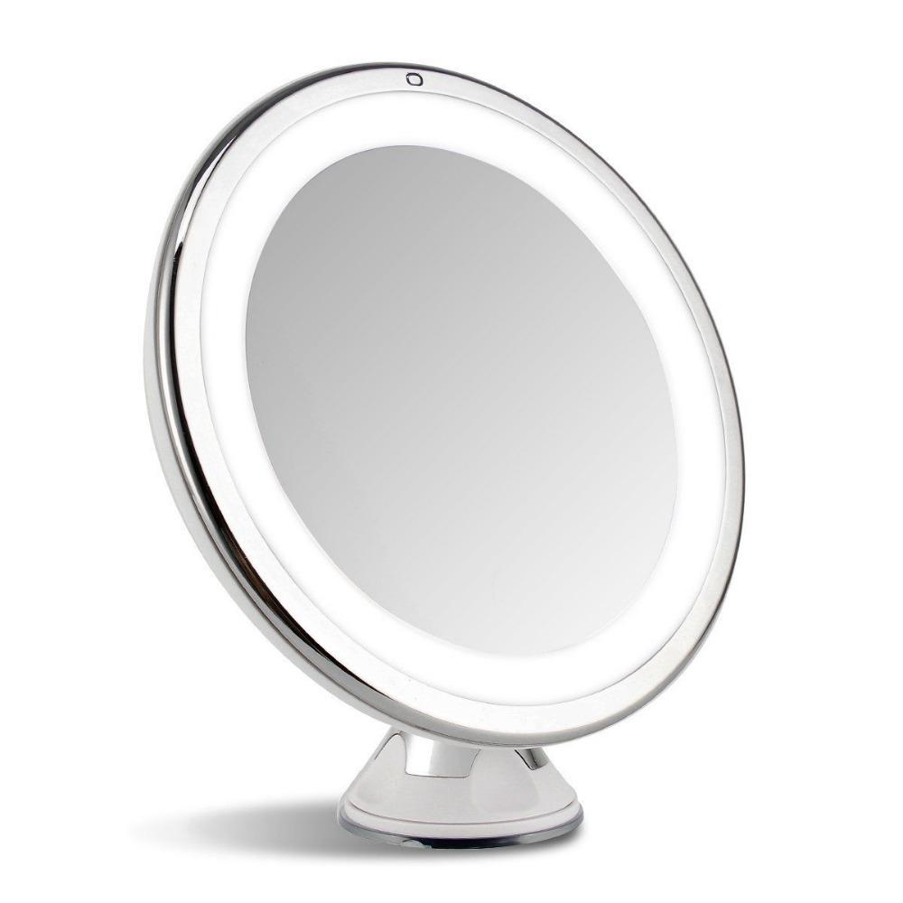 LED Lighted Touch Control <b>Mirror 7X Magnifier</b> Beauty <b>Cosmetic</b> ...