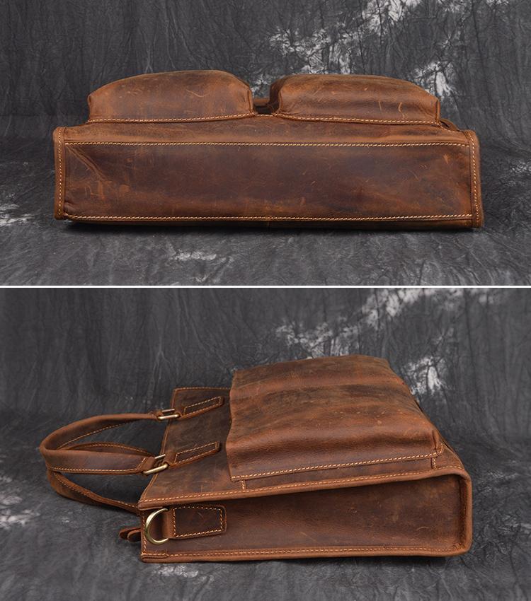 Mężczyźni Vintage Oryginalna skórzana teczka 14