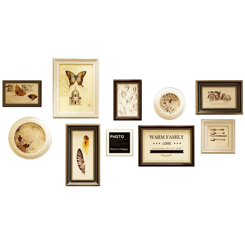 Photo Frame Wall Gallery Kit Includes: Frames,Hanging Wall Template ...
